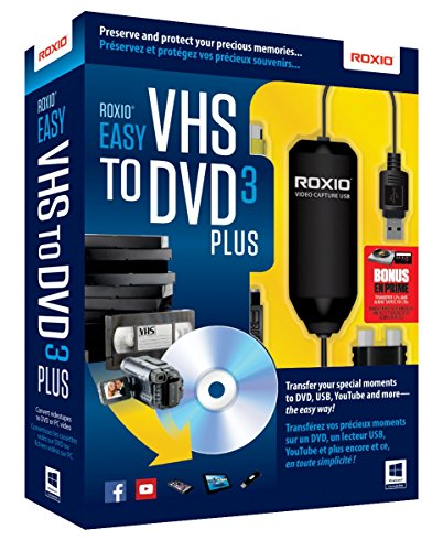 Roxio Easy VHS to DVD 3 Plus Video Converter for PC [Old Version]