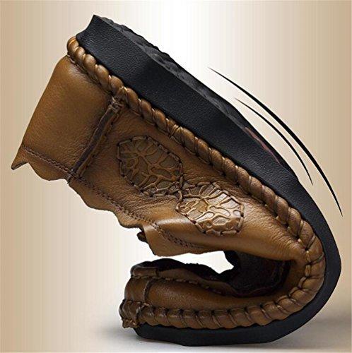 43 Comfort Mocassini brown Scarpe Outdoor e leggera carriera In 38To da vera pelle Guida Ufficio e slittamenti Size uomo XUTzgC