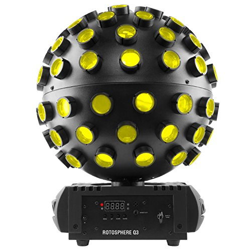 Chauvet DJ Rotosphere Q3 RGBW LED Mirror Ball Simulator Effect with 1 Year Free Extended Warranty by Chauvet
