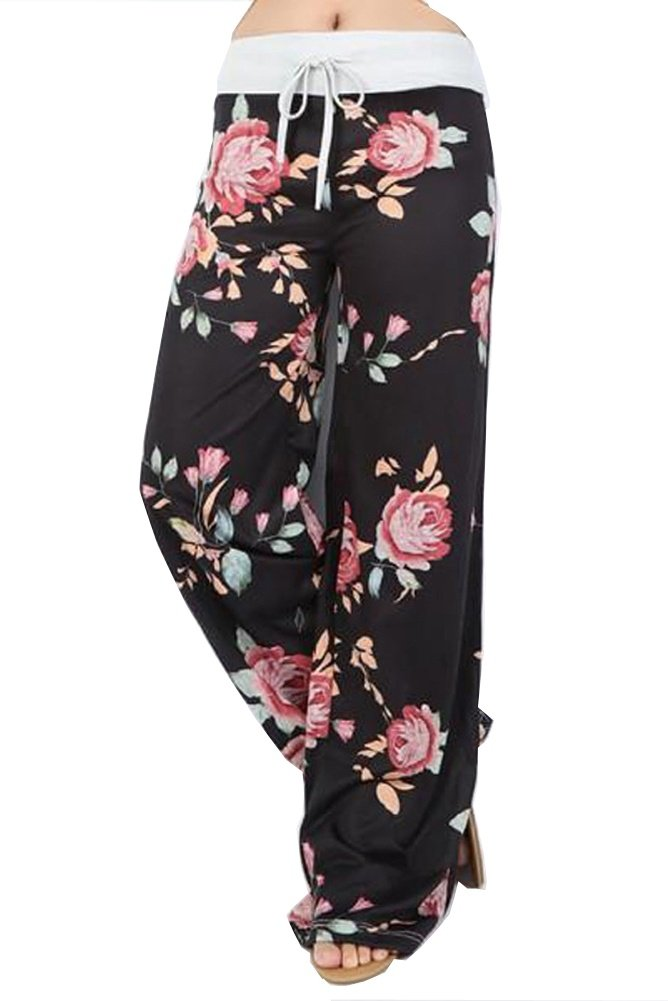 WFTBDREAM Lounge Pants Women Wide Leg Palazzo Plus Size High Drawstring Waist XL
