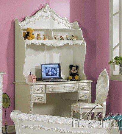Student Desk with Hutch White Finish (Pottery Barn Desk Hutch)