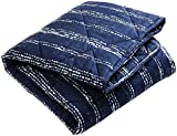 Brooklyn Born Organic Quilt - Shibori, Navy/White, One Size