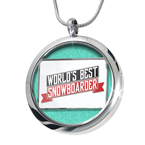 NEONBLOND Worlds Best Snowboarder Aromatherapy Essential Oil Diffuser Necklace Locket Pendant Jewelry - Snowboarders Best
