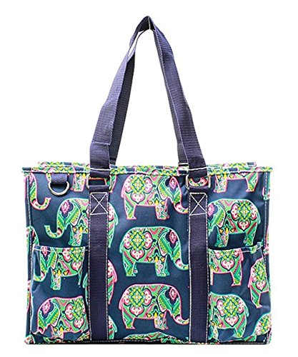 N Gil All Purpose Organizer Medium Utility Tote Bag (Elephant Navy)