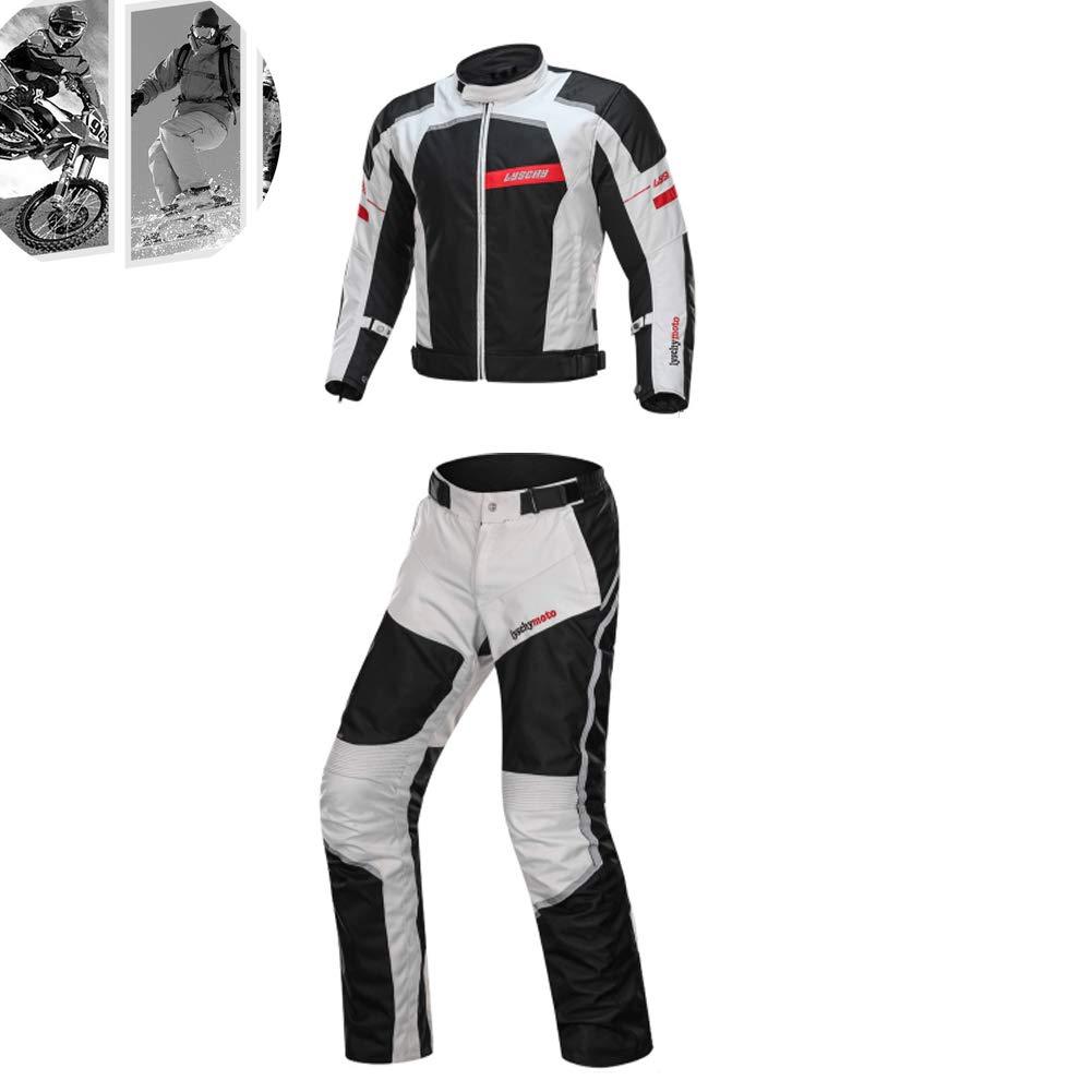 Chaqueta De Moto + Pantalón Traje De 2 Piezas A Prueba De ...