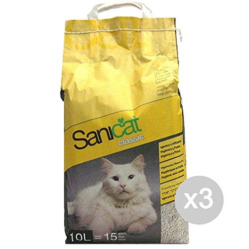 Juego 3 Sanicat Arenero Gatos LT 10 normal) para gatos mascotas: Amazon.es: Productos para mascotas