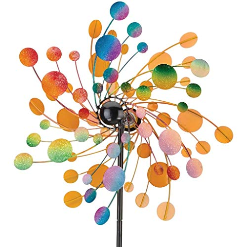 Regal Art & Gift Kinetic 19 inches x 7.75 inches x 70 inches Metal Stake - Confetti Garden Stakes