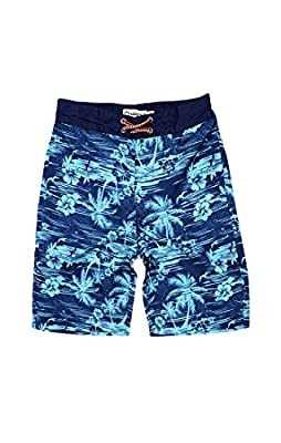 Appaman Kids Mens Hawaiian Plam Tree Swim Trunks (Toddler/Little Kids/Big Kids)