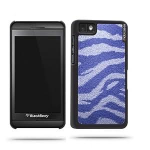 Zebra Stripes Blue Blackberry Z10 Case - For Blackberry Z10 wangjiang maoyi
