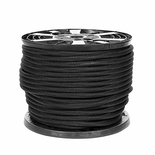PARACORD PLANET Black Diamond Weave Shock Cord - Available in 1/8'', 3/16'', 1/4'', 3/8'', 1/2'', and 3/4'' Diameters - Various Lengths by PARACORD PLANET (Image #3)