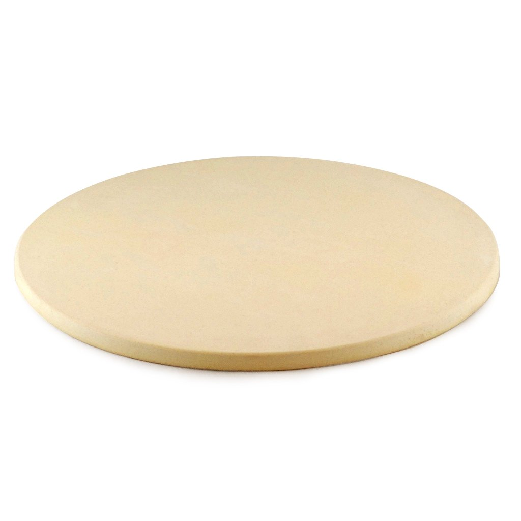 Ceramic Grill Store 13'' Round Ceramic Pizza Stone for Big Green Egg, Primo, Kamado Joe and other Outdoor Grills and Ovens. by Ceramic Grill Store