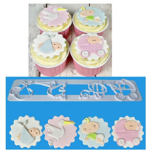 Baby Stroller Cake Decorations - 3