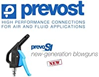 """Prevost Prevo S1, 1/4"""" Industrial Profile, Compressed Air, Safety Blow Gun/Nozzle - OSHA Compliant - High Flow - (Coupler NOT Included)"""