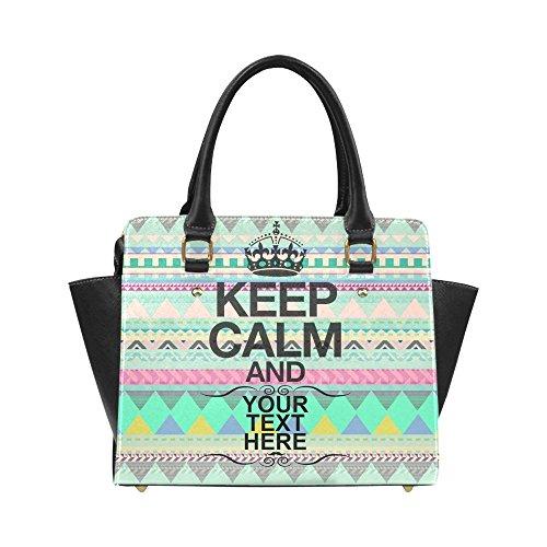 Customized Add Your Custom Text Aztec Bohemian Women Shoulder Bag Satchel Bag Purse - Pu Leather
