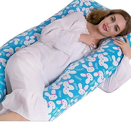 Blueseao Full Body Pregnancy Pillow - Maternity Pillow for Pregnant Women - Belly Contoured Body Body Pillow Cotton Pillow Cover (A) 1