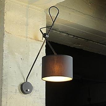 Loft Wandleuchte In Schwarz Gold Extrem Flexibel Verstellbar Mit Schalter  E14 Wandlampe Innen Beleuchtung Wohnzimmer