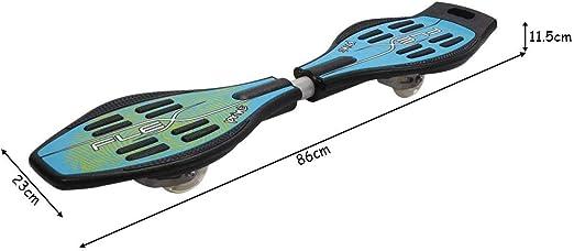 tavola completa fino a 80 kg 8 varianti a scelta 86 cm x 23 cm Skateboard Waveboard Casterboard Streetboard Caster Board ruote luminose con cuscinetti a sfera ABEC5