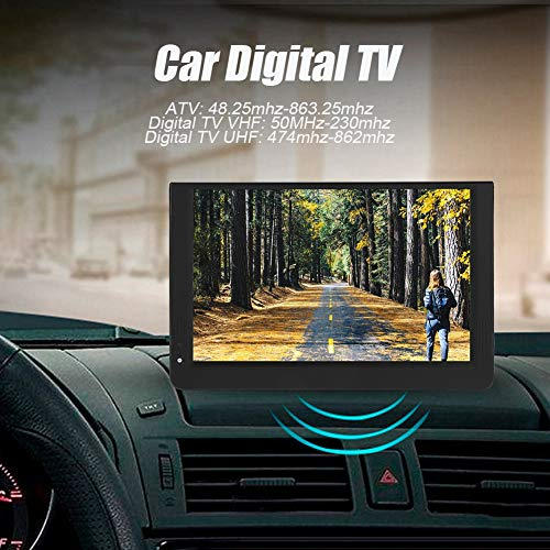 fosa 1080P Car Digital TV, LEADSTAR 12in Color Screen Television, Portable Handheld ATV/UHF/VHF Stereo Surrounding Car Television for Bedroom, Kitchen, Caravan, Build in Rechargble Battery by fosa (Image #1)