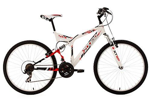 KS Cycling Fahrrad Mountainbike MTB Fully Zodiac, Weiß, 26 Zoll, 320M