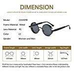 LOOKEYE Retro Round Steampunk Sunglasses Gothic Hippie Shades Metal Mirrored 8