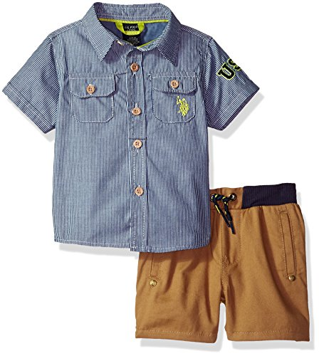 U.S. Polo Assn. Baby Boys Sport Shirt and Short Set Shorts