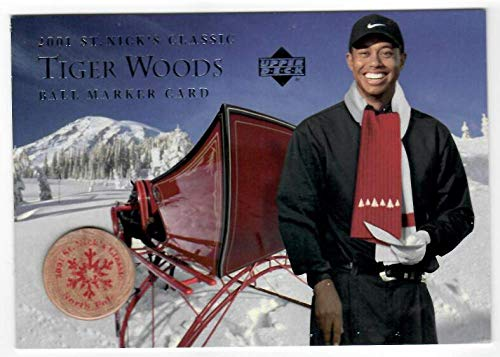 2001 Upper Deck St Nick's Classic Ball Marker Card # Tiger Woods Hobby Shop Exclusive (SP - Short Print)