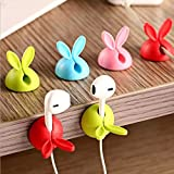 Coolllooda 16 Pcs Four color lovely silicone Rabbit ear Line Hold