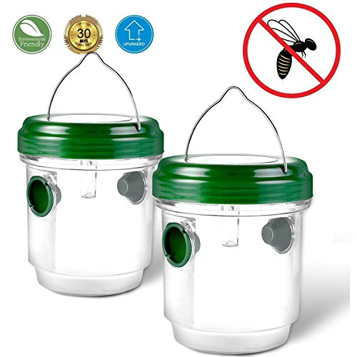 YOYO GARDEN Solar-Powered Wasp Trap with UV Light, Outdoor Wasp Killer, Wasp repellent,Perfect Traps for Halloween Wasps, Yellow Jackets, Bees, Hornets by Star (Top 20 Halloween Recipes)