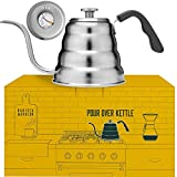 Pour Over Coffee Kettle with Thermometer for Exact Temperature -...