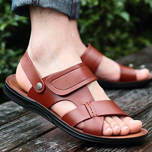 Black Summer Marée Les Pantoufles Chaussures De Plage, Occasionnel, Hommes, Non Glissants.,Eu41Cn42,Café