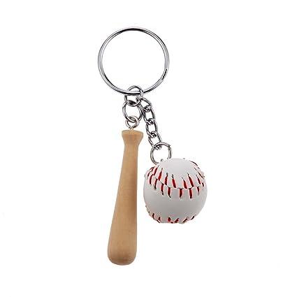 Op.h Mini llavero de béisbol cadena llavero de béisbol ...