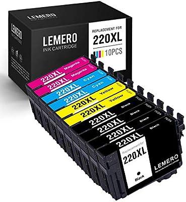 LEMERO - Cartucho de Tinta remanufacturado Epson T220XL 220XL (10 ...