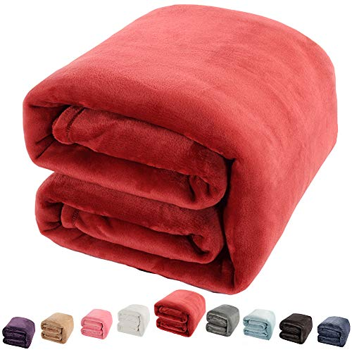 Shilucheng Luxury Fleece Blanket Super Soft and Warm Fuzzy Plush Lightweight King Couch Bed Blankets...