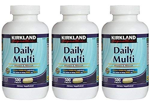 Cheap Kirkland Signature Daily Multi Vitamins & Minerals Tablets, 500-Count Bottle (3 Pack)