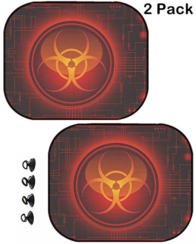 Msd Car Sun Shade Protector Side Window Block Damaging Uv Rays Sunlight Heat For All Vehicles  2 Pack Image Id  4069519 Biohazard Sign