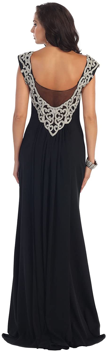 Royal Queen RQ7297 Prom Stretchy Evening Formal Gown (16, Royal Blue): Amazon.co.uk: Clothing