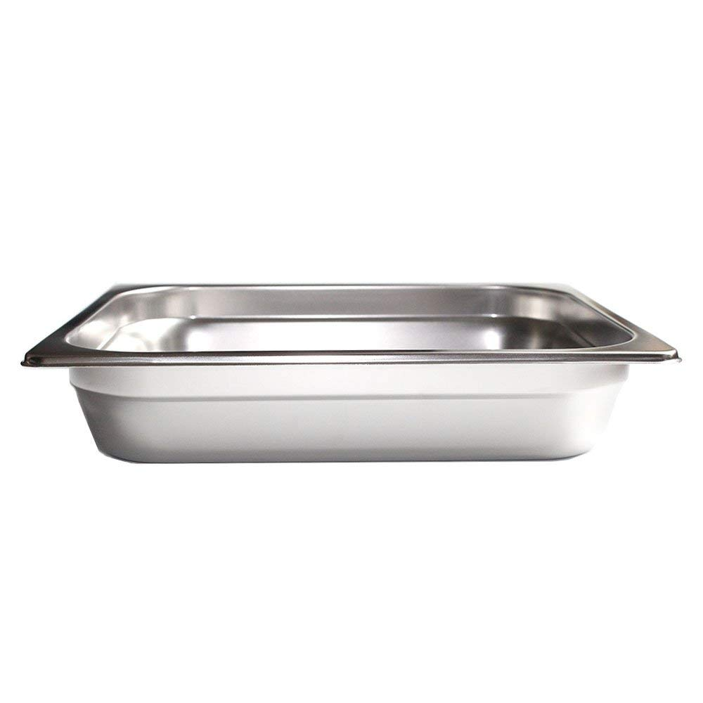FutureSprout 4'' Half-Size Anti-Jam Steam Table Pan for Cooking, Storage, for Restaurant, Cafeteria, Dining Hall, Catering Business, foodservice Establishment Hotels Buffet by FutureSprout (Image #3)