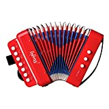 Mugig Accordion Starter Button Accordion for Beginners, Red