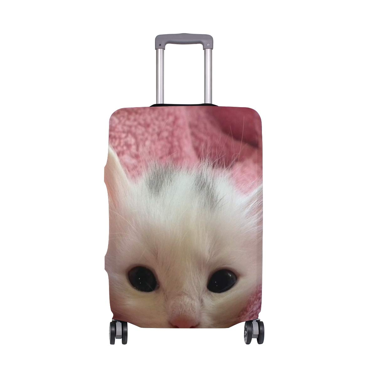 Travel Luggage Cover Cat Page Little Cute Suitcase Protector Fits 18-20 Inch Washable Baggage Covers
