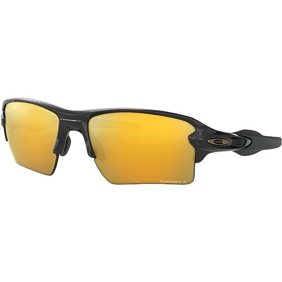 f6685918e8052 Oakley Sunglasses Flak 2.0XL Midnight Polished Black Prizm 24K Polarised  OO9188-9559  Amazon.co.uk  Clothing