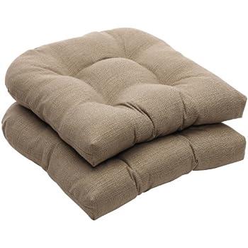 amazon com pillow perfect indoor outdoor red solid wicker loveseat