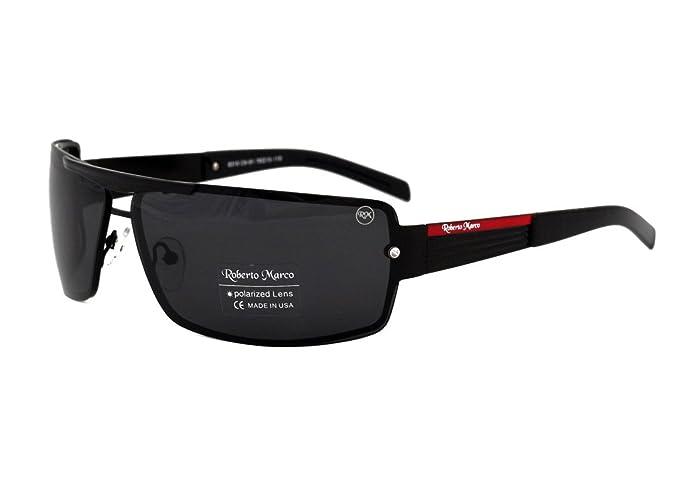 Roberto Marco Gafas de sol polarizadas para controladores lentes color gris. Diseño de moda –