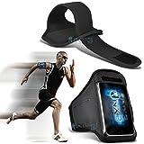 (Black) Vodafone Smart Platinum 7 Fitness Running Jogging Cycling Gym Armband Holder Case Cover ONX3