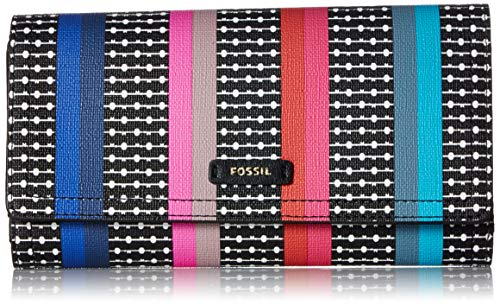 - Fossil Logan RFID Flap Clutch Colorful Stripes, One Size