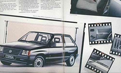 Amazon.com: 1986 Opel Corsa German Brochure GT GL GLS: Entertainment Collectibles