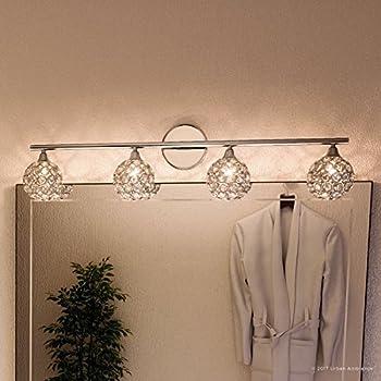 Luxury Crystal LED Bathroom Vanity Light, Large Size: 6.25\