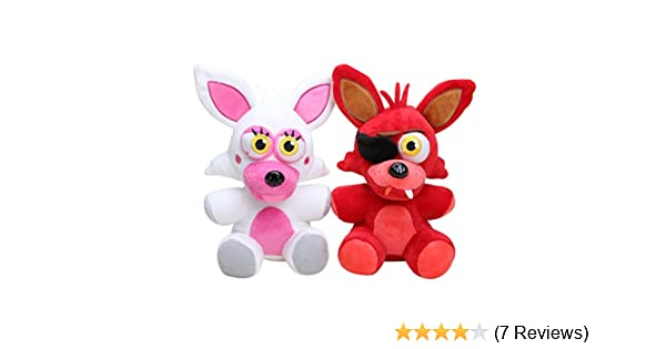 Amazon.com: Five Nights at Freddys Mangle Plush & Foxy Plush set of 2, 10inch: Toys & Games