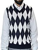 Blue Ocean Big Men Argyle Jacquard Sweater Vest Navy XXXX-Large