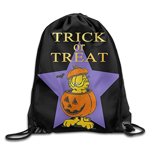 Comic Strip Halloween Makeup (Drawstring Bag Halloween Garfield Trick Or Treat)