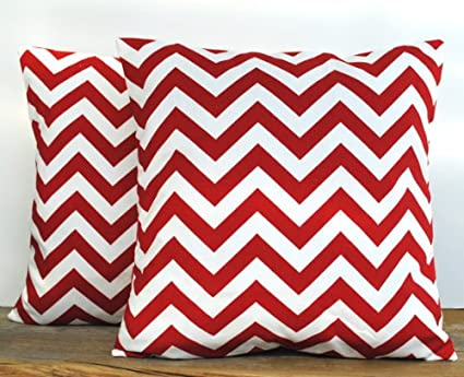 Amazon.com: One Premier Prints zig zag rojo y blanco funda ...